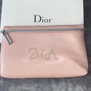 NIB authentic Dior vegan leather pouch/ makeup bag